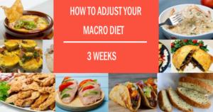 How to Adjust your 3 Weeks Macro Diet