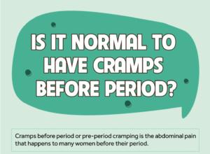 cramps before period
