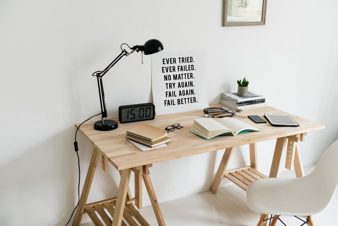 Animate the office with cork and plywood