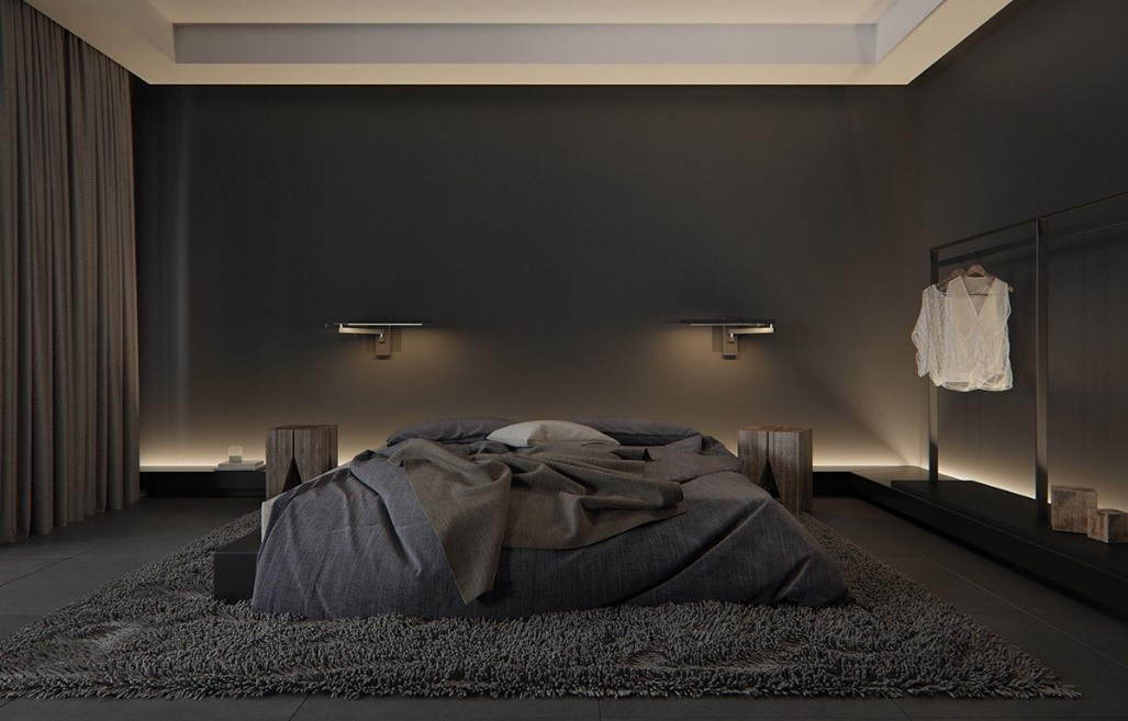 All Black Bedroom