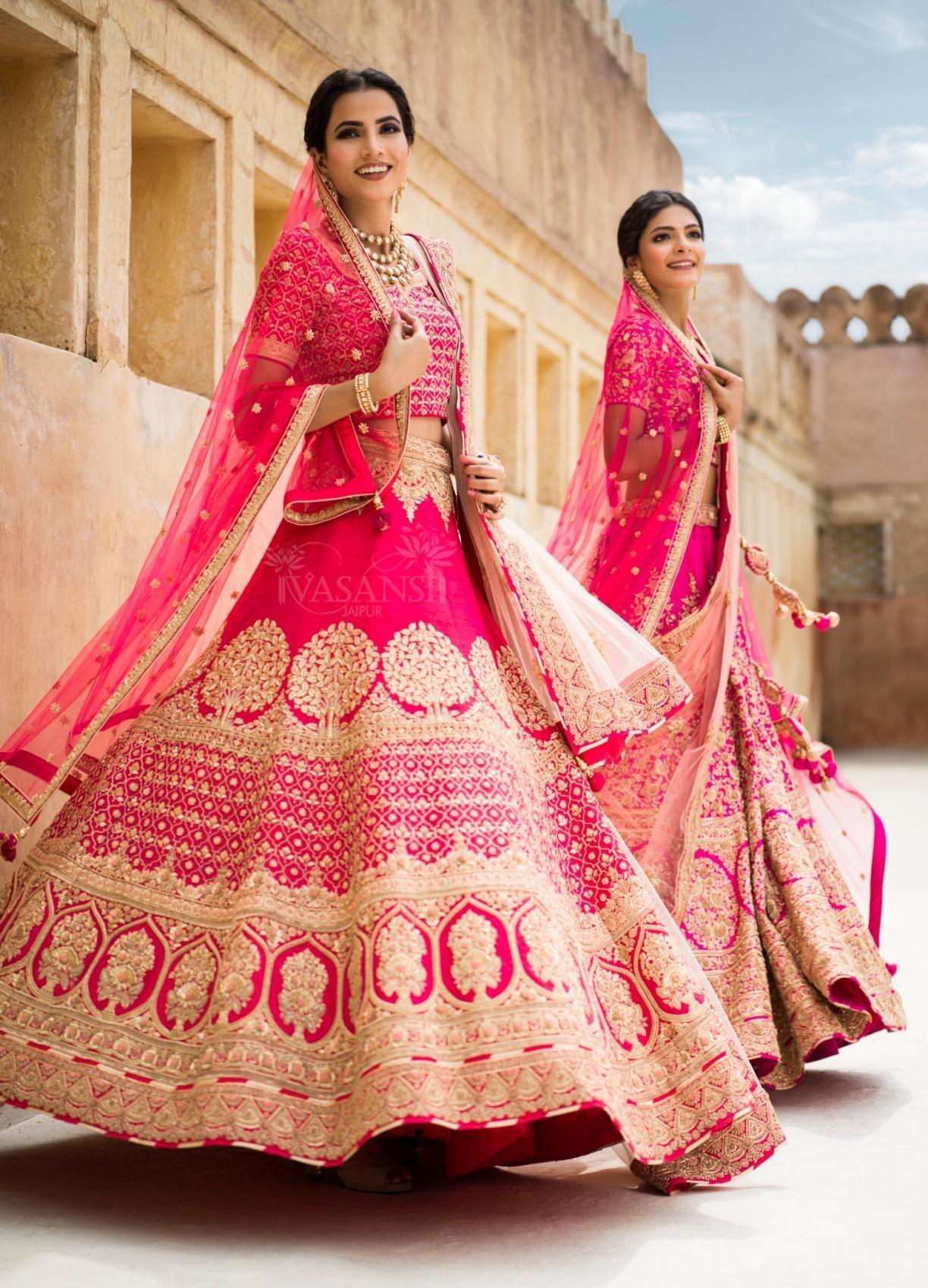 Pink Embroidery Bridal Lehenga