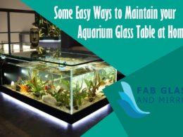 Aquarium Glass Table